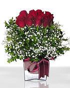 Çorum hediye çiçek yolla  11 adet gül mika yada cam - anneler günü seçimi -