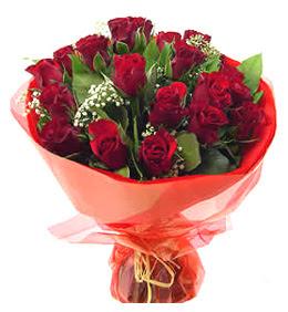 Çorum çiçek online çiçek siparişi  11 adet kimizi gülün ihtisami buket modeli
