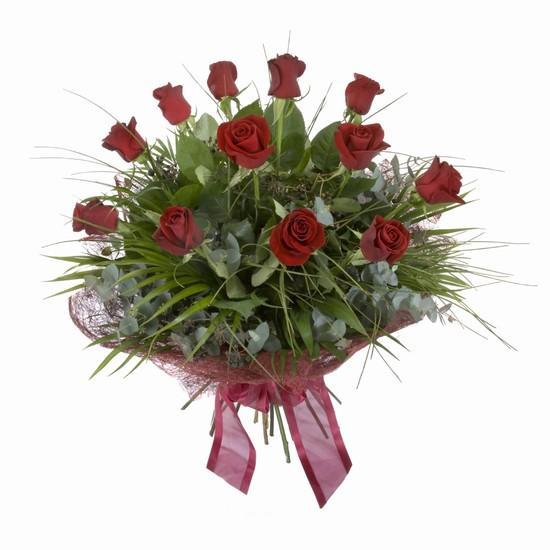 Etkileyici buket 11 adet kirmizi gül buketi  Çorum internetten çiçek siparişi