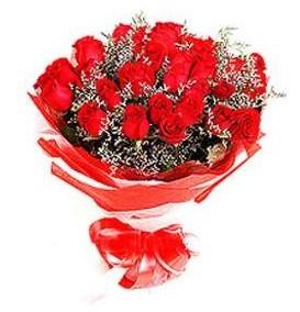 Çorum güvenli kaliteli hızlı çiçek  12 adet kırmızı güllerden görsel buket