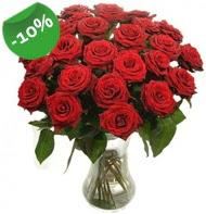Vazo içerisinde 25 adet kırmızı gül  Çorum uluslararası çiçek gönderme