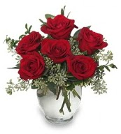 Vazo içerisinde 5 adet kırmızı gül  Çorum internetten çiçek satışı