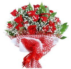 11 kırmızı gülden buket  Çorum hediye sevgilime hediye çiçek