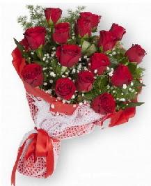 11 kırmızı gülden buket  Çorum online çiçekçi , çiçek siparişi