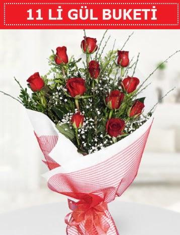 11 adet kırmızı gül buketi Aşk budur  Çorum çiçek gönderme