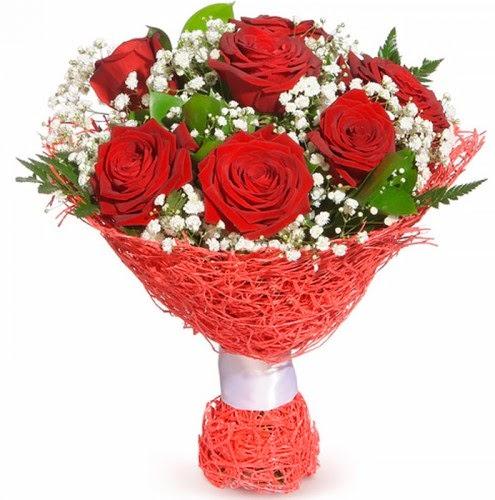 7 adet kırmızı gül buketi  Çorum çiçek siparişi vermek