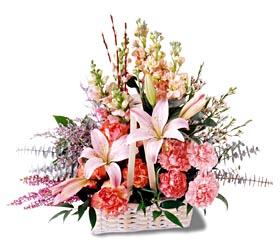 Çorum çiçekçiler  mevsim çiçekleri sepeti özel tanzim