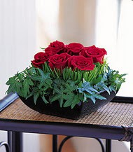 Çorum çiçekçiler  10 adet kare mika yada cam vazoda gül tanzim