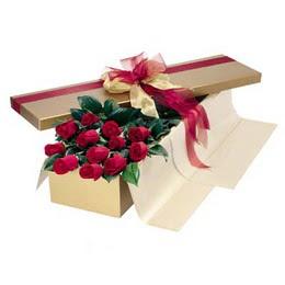 Çorum 14 şubat sevgililer günü çiçek  10 adet kutu özel kutu