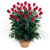 Çorum anneler günü çiçek yolla  10 adet kirmizi gül cam yada mika vazo