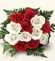 Çorum hediye çiçek yolla  10 adet kirmizi beyaz güller - anneler günü için ideal seçimdir -