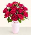 Çorum çiçek siparişi sitesi  10 kirmizi gül cam yada mika vazo tanzim