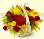 Çorum hediye sevgilime hediye çiçek  sepette mevsim çiçekleri