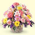 Çorum anneler günü çiçek yolla  sepet içerisinde gül ve mevsim