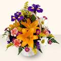 Çorum hediye sevgilime hediye çiçek  sepet içinde karisik çiçekler