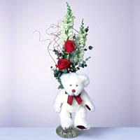 2 adet gül ve panda özel  Çorum internetten çiçek satışı