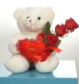 3 adetgül ve oyuncak   Çorum İnternetten çiçek siparişi