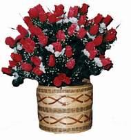 yapay kirmizi güller sepeti   Çorum yurtiçi ve yurtdışı çiçek siparişi