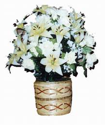 yapay karisik çiçek sepeti   Çorum güvenli kaliteli hızlı çiçek