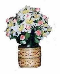 yapay karisik çiçek sepeti   Çorum kaliteli taze ve ucuz çiçekler