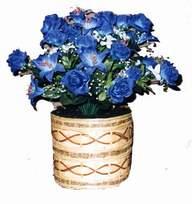 yapay mavi çiçek sepeti  Çorum 14 şubat sevgililer günü çiçek