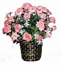 yapay karisik çiçek sepeti  Çorum çiçek mağazası , çiçekçi adresleri