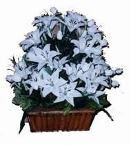 yapay karisik çiçek sepeti   Çorum cicekciler , cicek siparisi