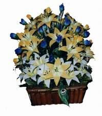 yapay karisik çiçek sepeti   Çorum çiçek satışı