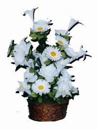 yapay karisik çiçek sepeti  Çorum cicek , cicekci