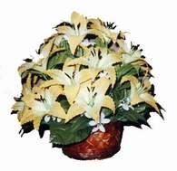 yapay karisik çiçek sepeti   Çorum çiçekçiler