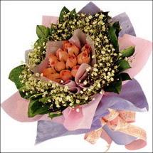 11  adet  gül ve   elyaflar   Çorum internetten çiçek satışı