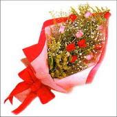 12 adet renkli  gül buketi   Çorum internetten çiçek satışı