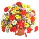 karisik renkli çiçek sepet   Çorum çiçek gönderme