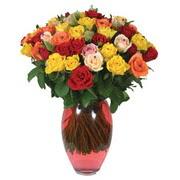 51 adet gül ve kaliteli vazo   Çorum çiçek gönderme