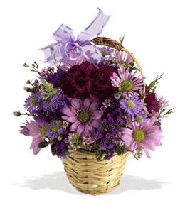 Çorum anneler günü çiçek yolla  sepet içerisinde krizantem çiçekleri