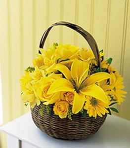 sepet içerisinde sarinin sihri  Çorum 14 şubat sevgililer günü çiçek