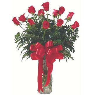 12 adet gül cam içerisinde  Çorum 14 şubat sevgililer günü çiçek