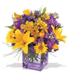 Çorum güvenli kaliteli hızlı çiçek  cam içerisinde kir çiçekleri demeti