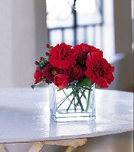 Çorum çiçekçi mağazası  kirmizinin sihri cam içinde görsel sade çiçekler