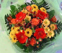 Çorum çiçekçi mağazası  sade hos orta boy karisik demet çiçek