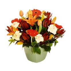mevsim çiçeklerinden karma aranjman  Çorum çiçek gönderme sitemiz güvenlidir