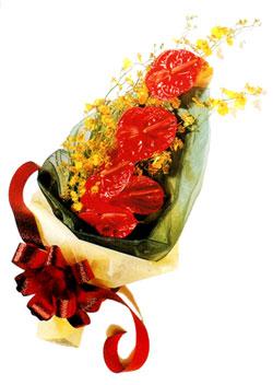 özel 5 adet antorium buketi   Çorum çiçek gönderme