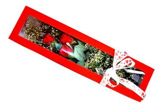 Çorum çiçek siparişi sitesi  Kutuda 3 adet gül