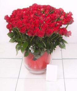 Çorum uluslararası çiçek gönderme  101 adet kirmizi gül