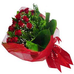 Çorum yurtiçi ve yurtdışı çiçek siparişi  12 adet kirmizi essiz gül buketi - SEVENE ÖZEL