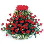 Çorum yurtiçi ve yurtdışı çiçek siparişi  41 adet kirmizi gülden sepet tanzimi