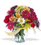 Çorum hediye çiçek yolla  cam yada mika vazo içerisinde karisik kir çiçekleri