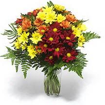Çorum çiçekçiler  Karisik çiçeklerden mevsim vazosu