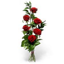 Çorum anneler günü çiçek yolla  mika yada cam vazoda 6 adet essiz gül