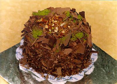 Çikolatali 4 ila 6 kisilik yas pasta  Çorum çiçek gönderme